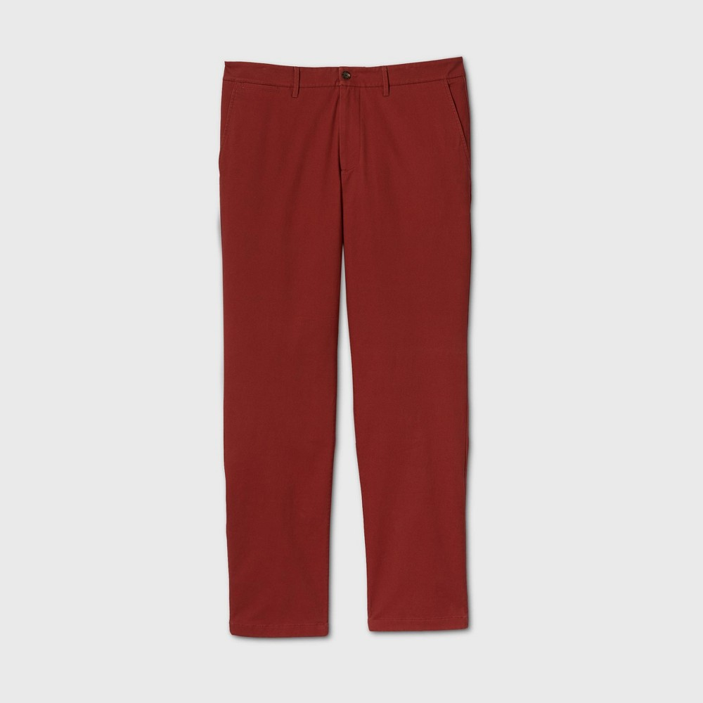 Men 39 S Tall Straight Fit Chino Pants Goodfellow 38 Co 8482 Red 42x36