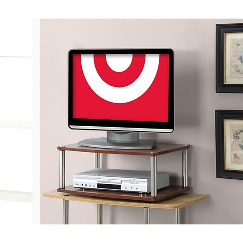Two Tier Swivel Tv Stand Cherry 24 Convenience Concepts Target