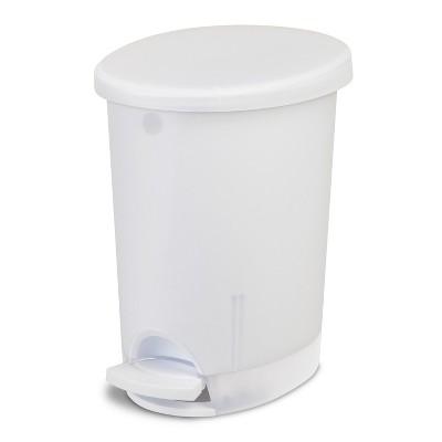 Sterilite® Step-Open Trash Can Clear 10.4qt/2.6gal