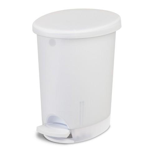 Sterilite Step Open Trash Can Clear 10 4qt 2 6gal