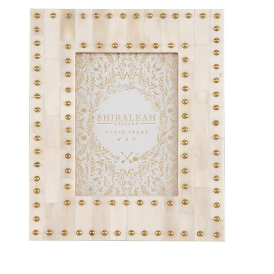 """Mansour Ivory Studded """"5 X 7"""" Gallery Frame - Shiraleah"""