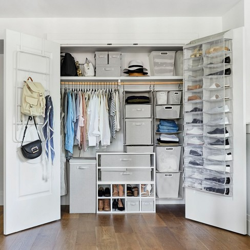 Closet Starter Kit Horizontal Cubby With 2 Underbed Bins Made By Design Target