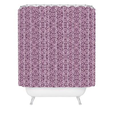 Wagner Campelo Boho Volutes Lavender Shower Curtain Purple - Deny Designs