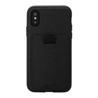 Bondir Apple iPhone X/XS Leather Wallet Case - Black