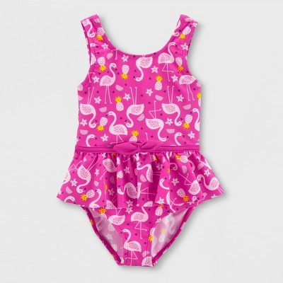 Baby Girls' Flamingo One Piece Swimsuit - Just One You® made by carter's Purple 3M