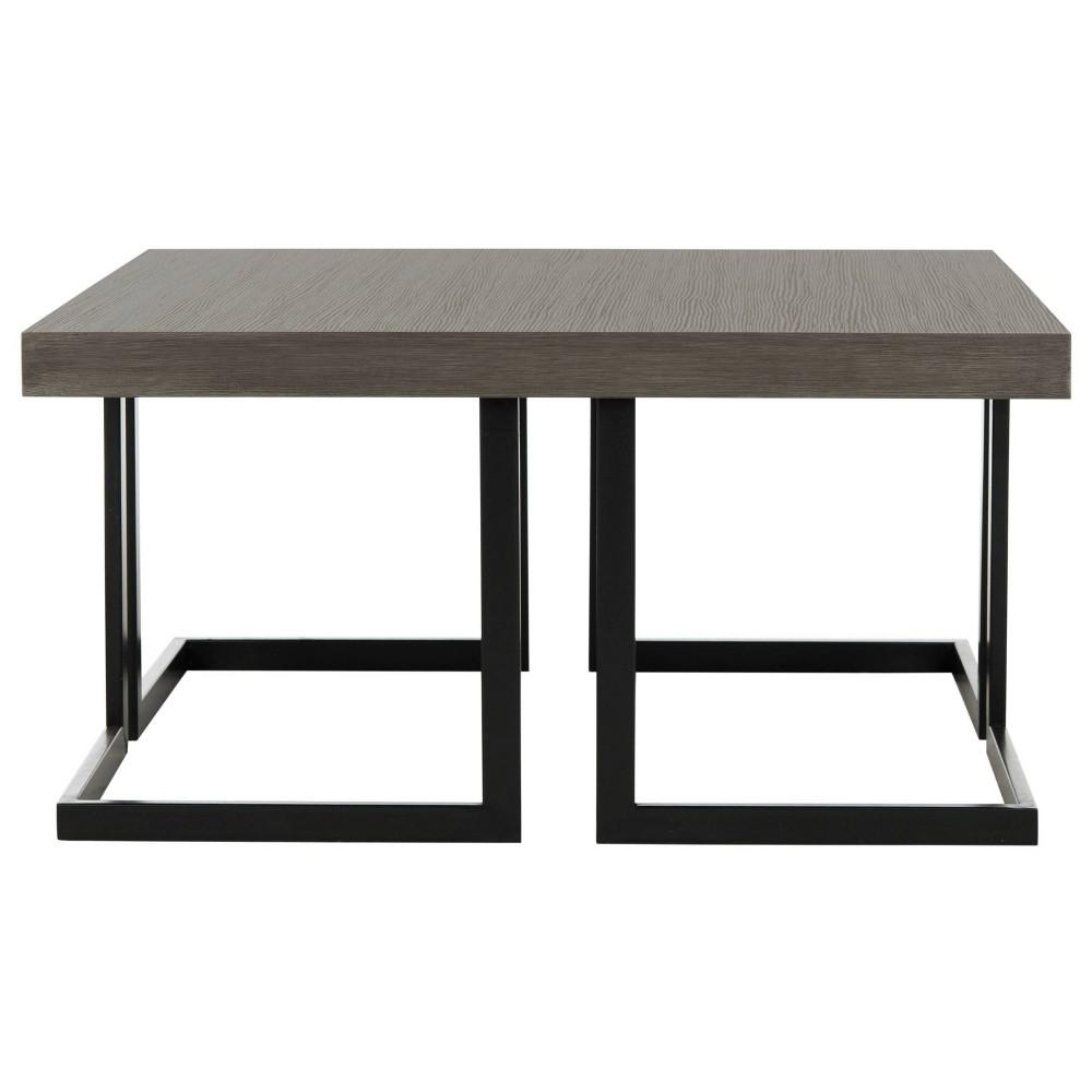 Amalya Mid-Century Coffee Table - Dark Gray & Black - Safavieh, Dark Grey/Black