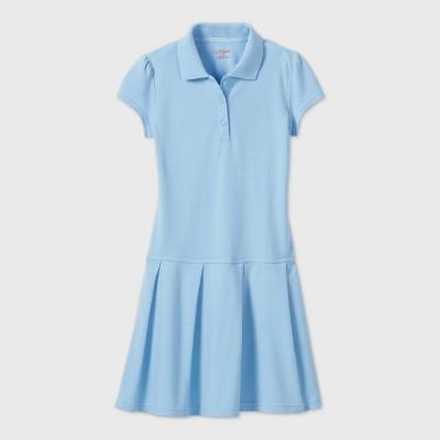 Girls' Short Sleeve Pleated Uniform Tennis Dress - Cat & Jack™ Light Blue