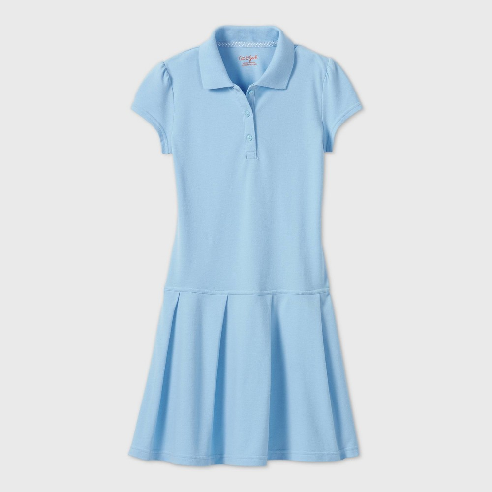 Girls Short Sleeve Pleated Uniform Tennis Dress - Cat & Jack Light Blue M Cheap