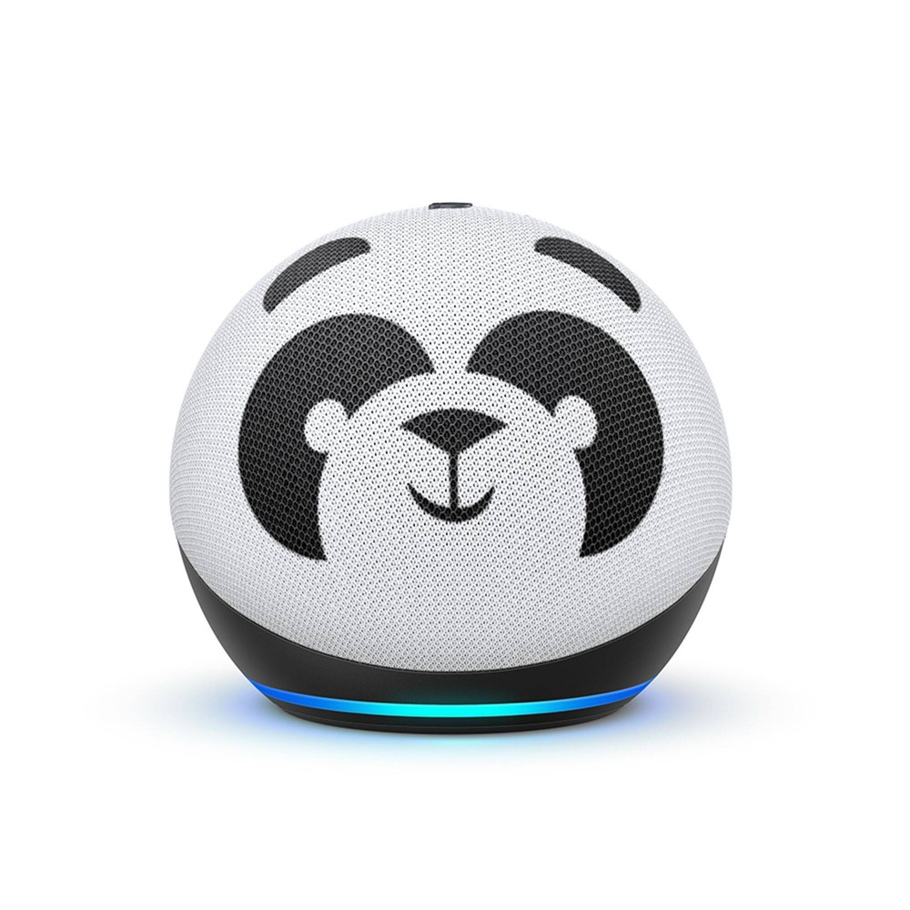 Amazon Echo Dot (4th Gen) Kids Edition with Parental Controls - Panda on sale