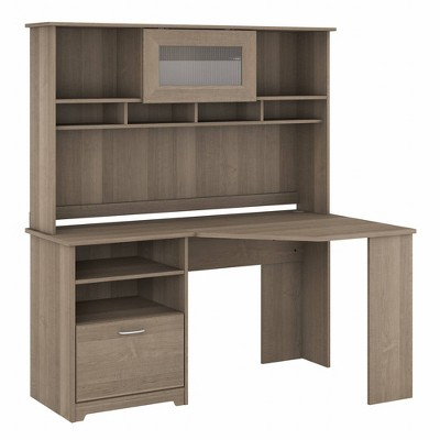 Cabot 60W Corner Desk with Hutch - Bush Furniture