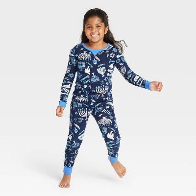 Kids' Holiday Hanukkah Print Matching Family Pajama Set - Wondershop™ Blue