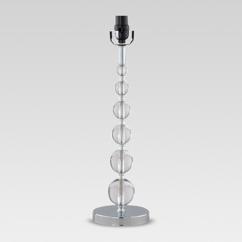 Arcylic Stacked Ball Large Lamp Base Clear - Threshold™ - image 1 of 4