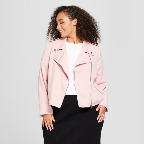 ba1b98fffbd Women s Plus Size Drapey Moto Jacket - Who What Wear™   Target