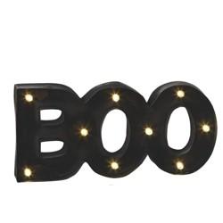"Ganz 17.25"" Halloween Prelit LED BOO Wall Marquee - Black"