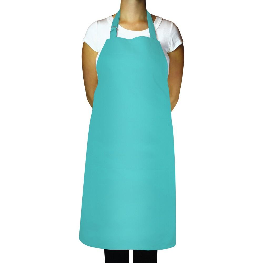 "Image of ""35"""" Cooking Apron Aqua - MUkitchen, Blue"""