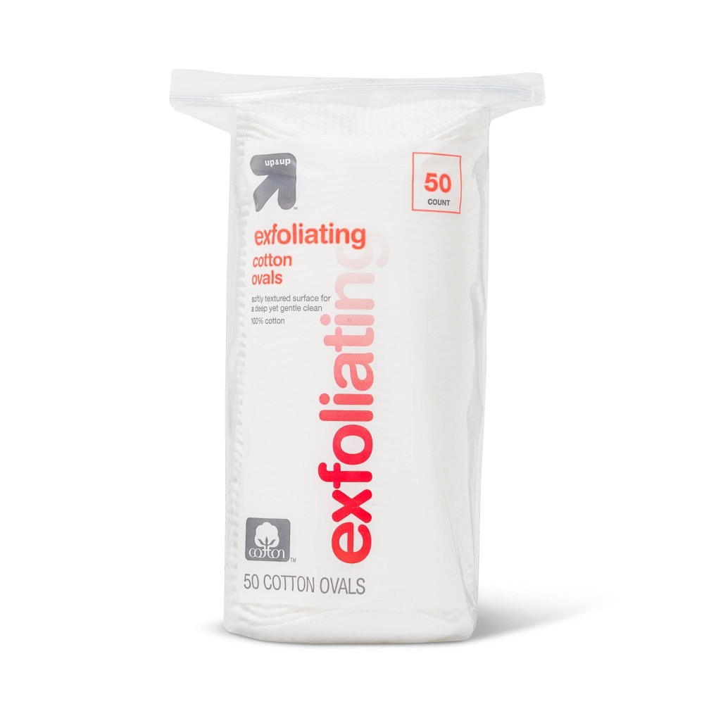 Image of Exfoliating Cotton Ovals - 50 ct - Up&Up