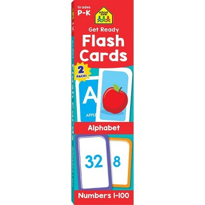 Get Ready Flash Cards 2-pack - Alphabet & Numbers 1-100, Grades P-K (School Zone Publishing)