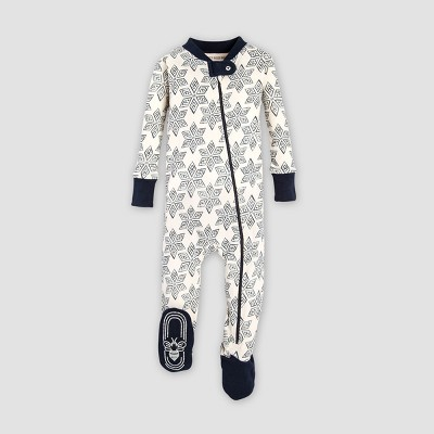 Burt's Bees Baby® Organic Cotton Arctic Snowflake Footed Pajama - Midnight 0-3M