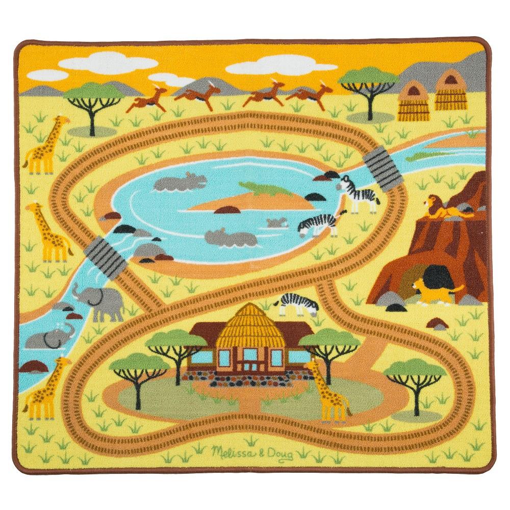Melissa & Doug Round the Savanna Safari Rug Activity Rug (39 X 36)
