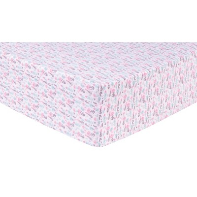 Trend Lab Deluxe Flannel Crib Sheet - Painterly Floral
