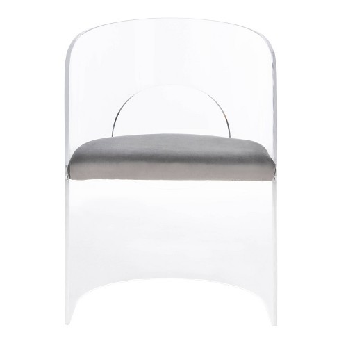 Estelle Acrylic Accent Chair Clear/Gray - Safavieh - image 1 of 4
