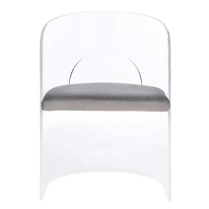 Estelle Acrylic Accent Chair Clear/Gray - Safavieh - image 1 of 9