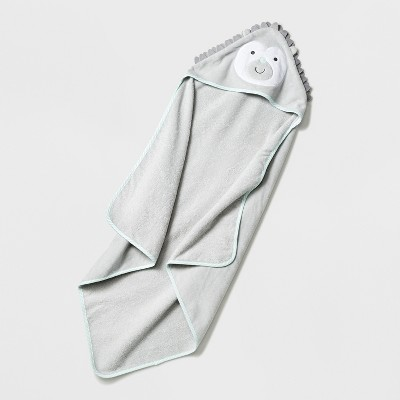 Baby Hedgehog Hooded Towel - Cloud Island™ Light Gray