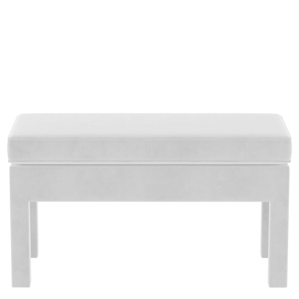 Upholstered Bench in Velvet White - Threshold