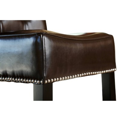 "Linden Leather 30"" Barstool Hardwood - Abbyson Living : Target"