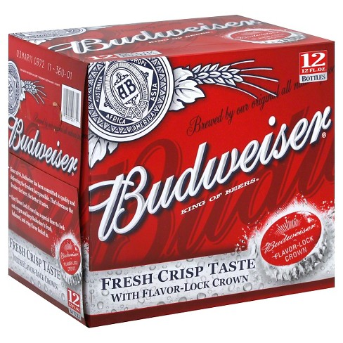Budweiser® Beer - 12pk / 12oz Bottles - image 1 of 1