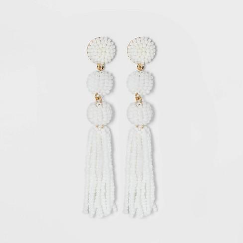 SUGARFIX by BaubleBar Beaded Ball Drop Tassel Earrings - image 1 of 2