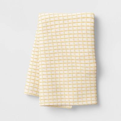 Cotton Waffle Kitchen Towel Yellow - Threshold™