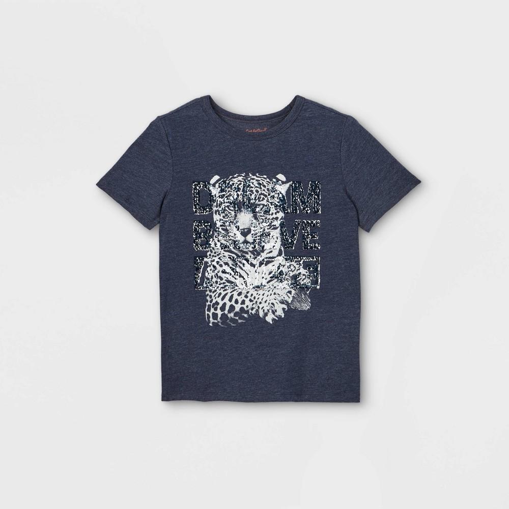 Boys 39 Cheetah Interactive Graphic Short Sleeve T Shirt Cat 38 Jack 8482 Navy Xl