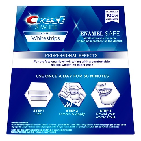 crest 3d white whitestrips professional effects target