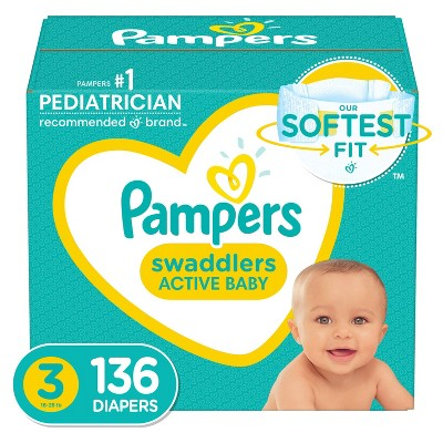 Pampers Swaddlers Pack - Size 3 (136ct )