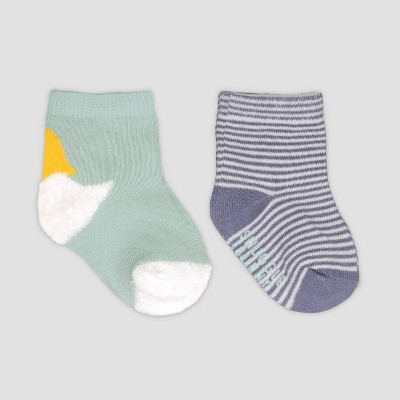 Baby 2pk Easter Bunny Socks - Just One You® made by carter's Blue 6-12M