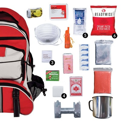 Wise Food 5 Day Survival Back Pack - Red - 11lbs