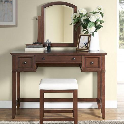Groovy Vista Vanity Mirror And Stool Crosley Alphanode Cool Chair Designs And Ideas Alphanodeonline