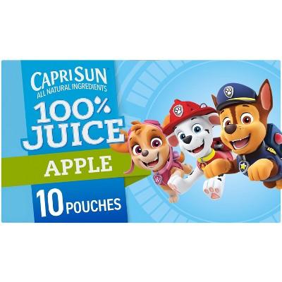 Capri Sun 100% Apple Juice Paw Patrol - 10pk/6 fl oz Pouches