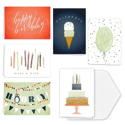 36ct Birthday Card Set
