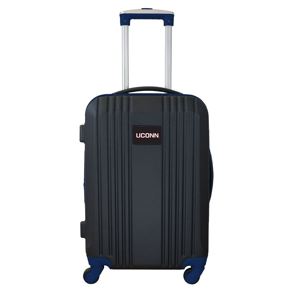NCAA UConn Huskies 21 Hardcase Two-Tone Spinner Carry On Suitcase