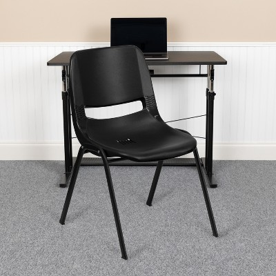 Flash Furniture HERCULES Series 661 lb. Capacity Ergonomic Shell Stack Chair with 16'' Seat Height
