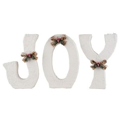 Gallerie II Winter White Joy Letters  Set of 3