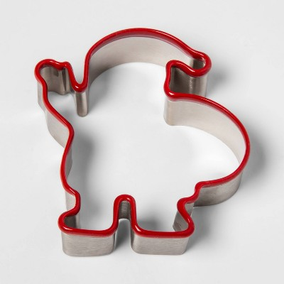 Stainless Steel Holiday Santa Cookie Cutter - Threshold™