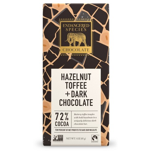 Endangered Species Chocolate Hazelnut Toffee Bar - 3oz - image 1 of 1