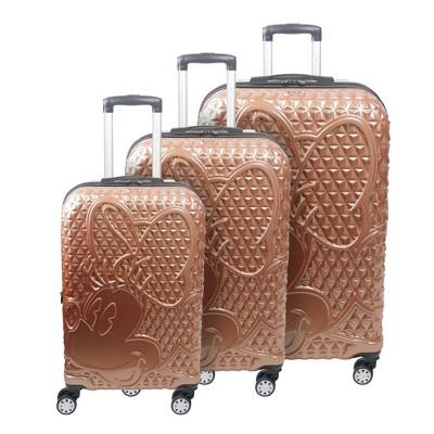 FUL Disney Minnie Mouse 3pc Hardside Luggage Set - Rose Gold