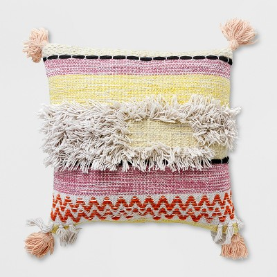 Square Banded Woven Outdoor Pillow - Opalhouse™