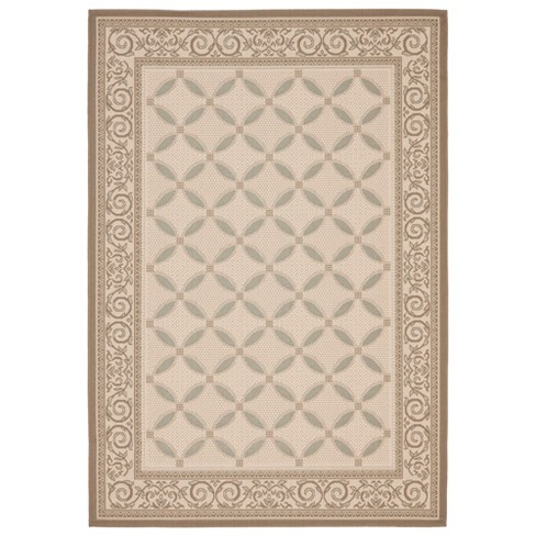 Hender Outdoor Rug - Beige / Dark Beige - Safavieh® - image 1 of 1