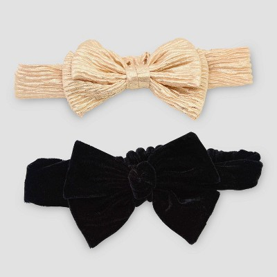 Baby Girls' 2pk Headband - Just One You® made by carter's Gold/Black One Size