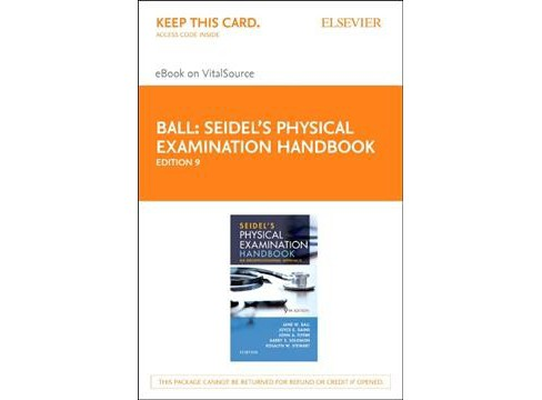 Seidel's Physical Examination Handbook Elsevier Ebook on Vitalsource Retail Access Card : An - image 1 of 1